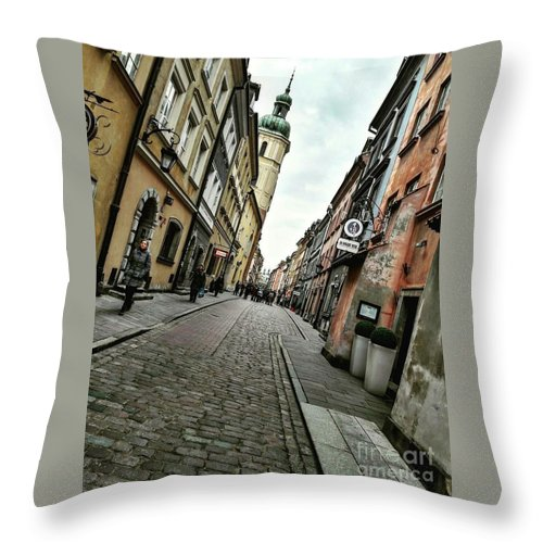 Throw Pillow featuring the photograph Warsaw, The Old Town by Christian Smochko