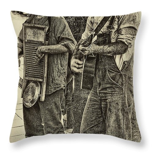 Washboard Throw Pillow featuring the photograph Washboard Symphony by David Patterson