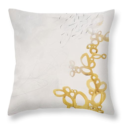Painting Throw Pillow featuring the painting Washed Up # 6 by Jane Davies