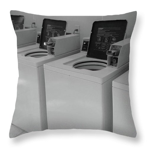 Washer Throw Pillow featuring the photograph Washers by WaLdEmAr BoRrErO