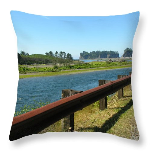 Washington Coast Throw Pillow featuring the photograph Washington Coast by Diane Greco-Lesser