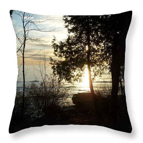 Washington Island Throw Pillow featuring the photograph Washington Island Morning 2 by Anita Burgermeister