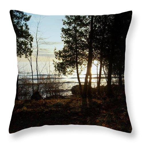 Washington Island Throw Pillow featuring the photograph Washington Island Morning 3 by Anita Burgermeister