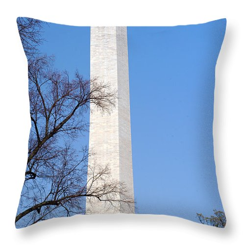 Clay Throw Pillow featuring the photograph Washington Monument by Clayton Bruster