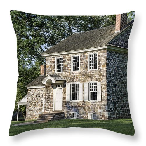 America Throw Pillow featuring the photograph Washington's Headquarters by John Greim