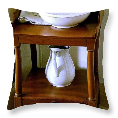 Washstand Throw Pillow featuring the photograph Washstand by Nelson Strong