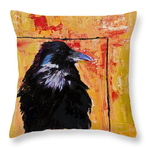 Large Decorative Fine Art Prints Throw Pillow featuring the painting Watch and Learn by Pat Saunders-White