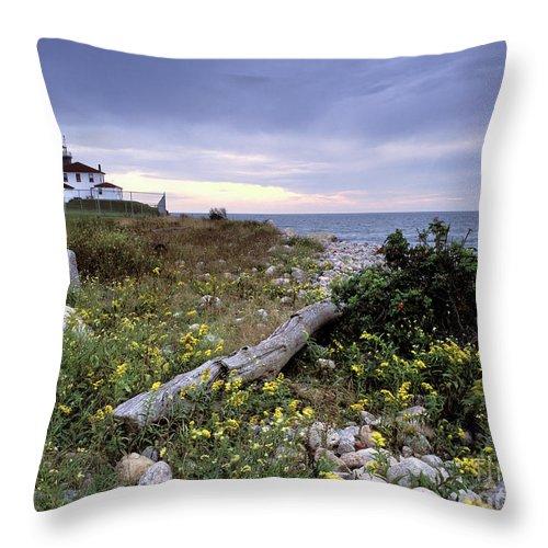 Watch Throw Pillow featuring the photograph Watch Hill Lighthouse - Fm000062 by Daniel Dempster