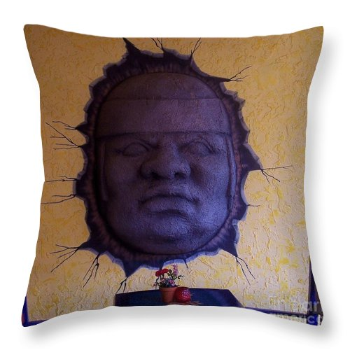 Face Throw Pillow featuring the photograph Watch What You Eat by Debbi Granruth