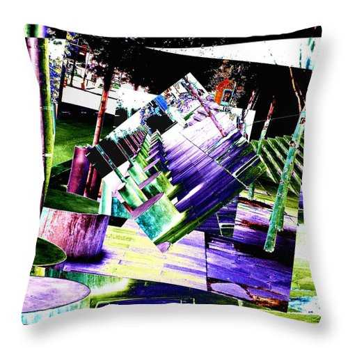 Seattle Throw Pillow featuring the photograph Watch Your Step by Tim Allen