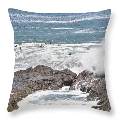 Gold Coast Throw Pillow featuring the photograph Watching For Akaw by Csilla Florida