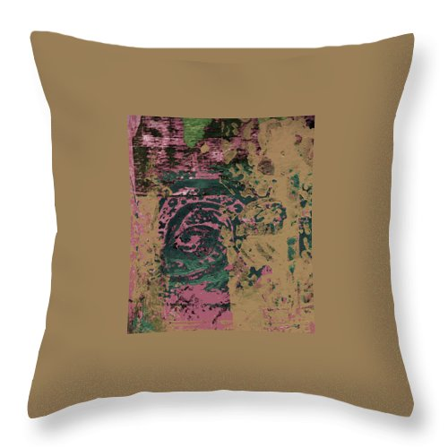 Abstract Throw Pillow featuring the painting Watching by Wayne Potrafka