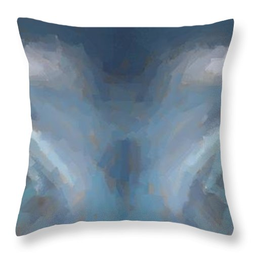 Eyes Throw Pillow featuring the digital art Watching You by John W Smith III