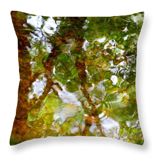 Abstract Throw Pillow featuring the photograph Water Abstract 17 by Joanne Baldaia - Printscapes