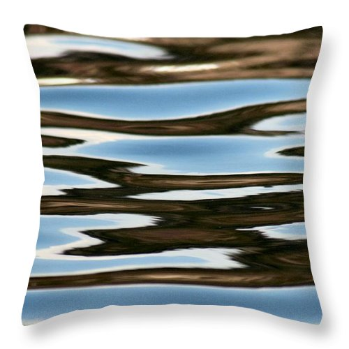 Waves Water Throw Pillow featuring the photograph Water Abstract Okanagan Lake by Tiffany Vest