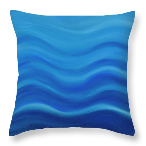 Water Throw Pillow featuring the painting Water by Adamantini Feng shui