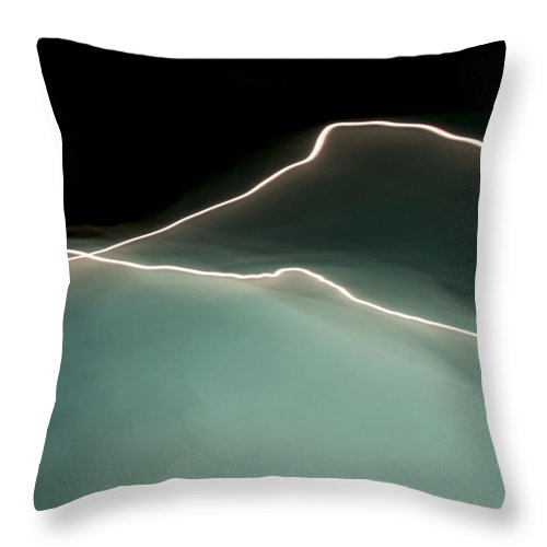 Water Throw Pillow featuring the painting Water And Light II by Glennis Siverson