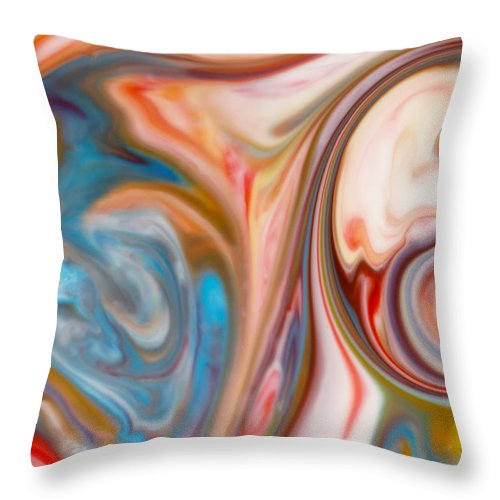 Abstract Throw Pillow featuring the photograph Water And Sand by Liz Howerton