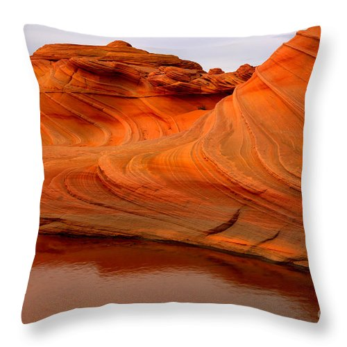 The Wave Throw Pillow featuring the photograph Water And The Wave by Adam Jewell