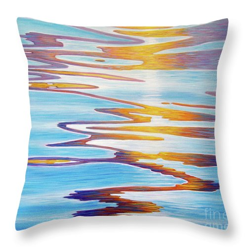 River Throw Pillow featuring the painting Water Dance by Brian Commerford
