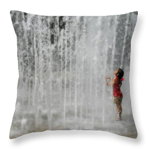 Water Throw Pillow featuring the photograph Water Dance by Perry Webster