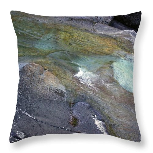 Tropical Throw Pillow featuring the photograph Water Flow by Kerryn Madsen- Pietsch