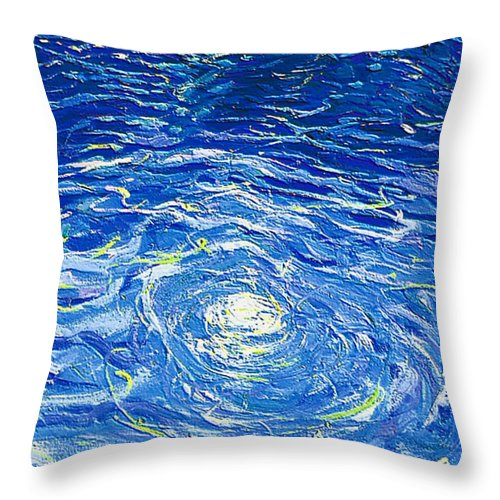 Pool Throw Pillow featuring the mixed media Water In The Pool by Dragica Micki Fortuna