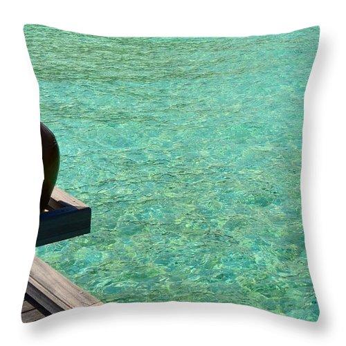 Ocean Throw Pillow featuring the photograph Water Jar by Corinne Rhode