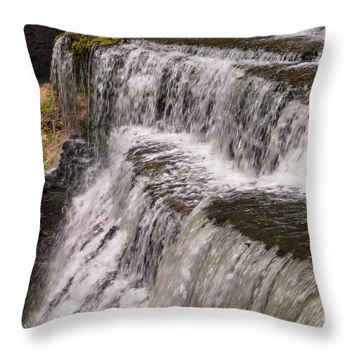 Burgess Falls State Park Throw Pillow featuring the photograph Water Levels by Bob Phillips