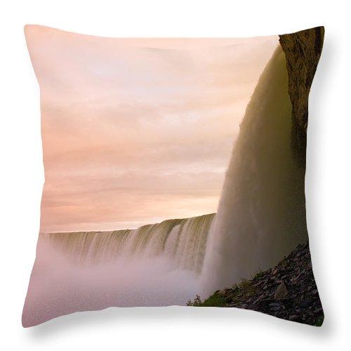 Niagara Falls Throw Pillow featuring the photograph Water by Sebastian Musial