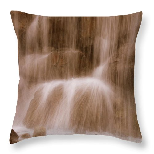 Water Throw Pillow featuring the photograph Water Softly Falling by Carol Groenen