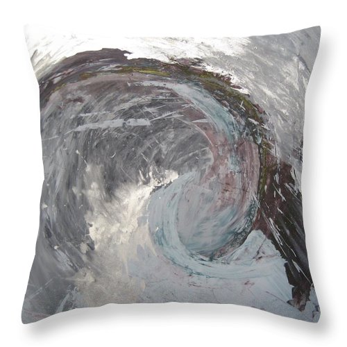 Sea Ocean Wave Abstract Throw Pillow featuring the painting Water Spirit by Peta Mccabe