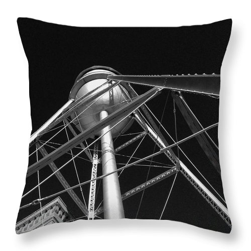 Architecture Throw Pillow featuring the photograph Water Tower by Dick Goodman