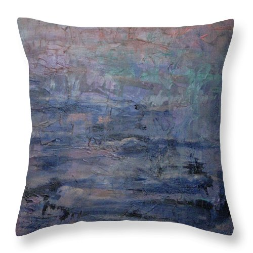 Abstract Throw Pillow featuring the painting Water Water Everywhere by Connie Freid