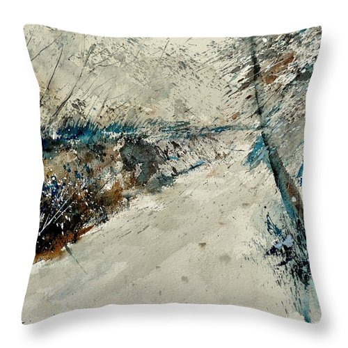 Landcape Throw Pillow featuring the painting Watercolor 018001 by Pol Ledent