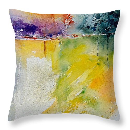 Water Throw Pillow featuring the painting Watercolor 241008 by Pol Ledent