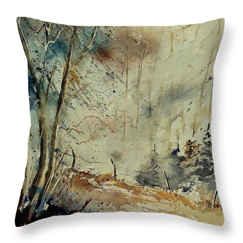 River Throw Pillow featuring the painting Watercolor 902190 by Pol Ledent