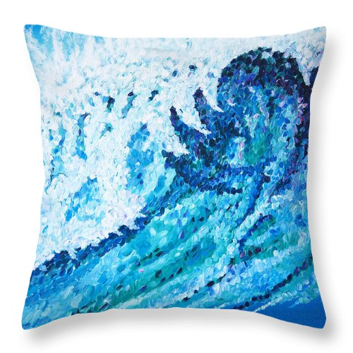 Ocean Throw Pillow featuring the painting Watercolor by JoAnn DePolo