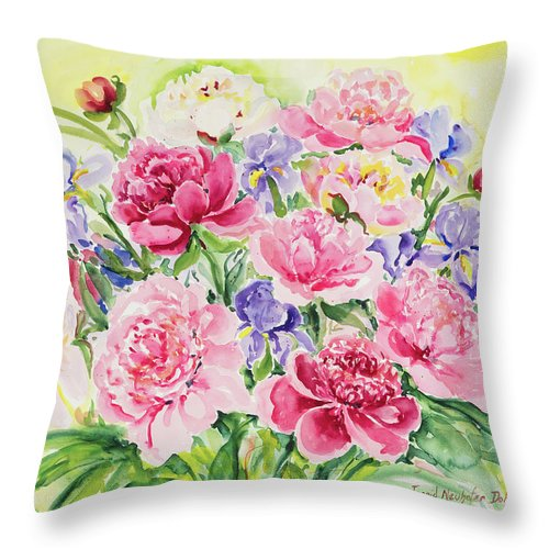 Flowers Throw Pillow featuring the painting Watercolor Series 153 by Ingrid Dohm