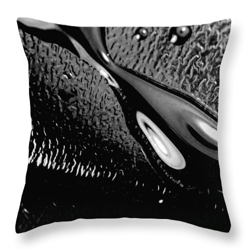 Water Throw Pillow featuring the photograph Waterdrop 6 by Nancy Mueller