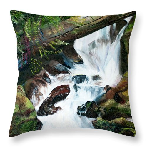 Waterfall 1 Throw Pillow For Sale By Terry R Macdonald 18 X 18