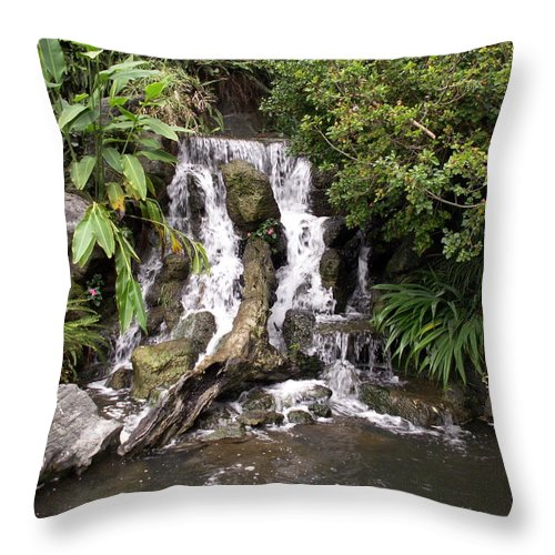 Water Throw Pillow featuring the photograph Waterfall by Amy Fose