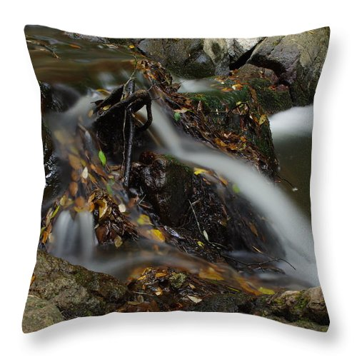 River Throw Pillow featuring the photograph Waterfall by M D G