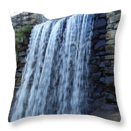 Grist Mill Throw Pillow featuring the photograph Waterfall Of The Grist Mill by Gina Sullivan