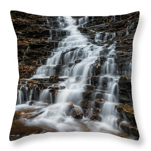 Ricketts Glen State Park Throw Pillow featuring the photograph Ricketts Glen State Park Pennsylvania by Rick Dunnuck