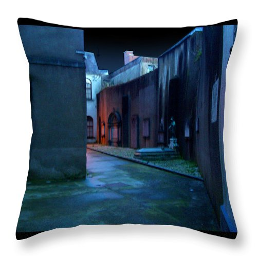 Waterford Throw Pillow featuring the photograph Waterford Alley by Tim Nyberg