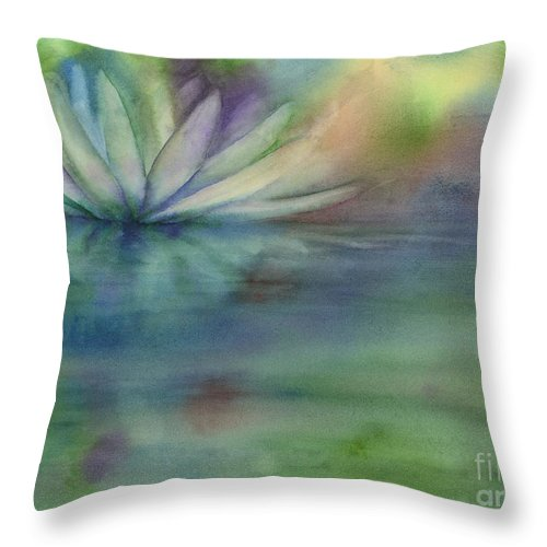 Waterlily Throw Pillow featuring the painting Waterlily by Amy Kirkpatrick