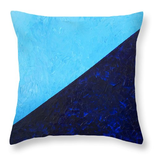Impasto Throw Pillow featuring the painting Water's Edge by JoAnn DePolo