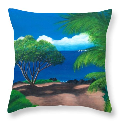 Water Throw Pillow featuring the painting Water's Edge by Nancy Nuce