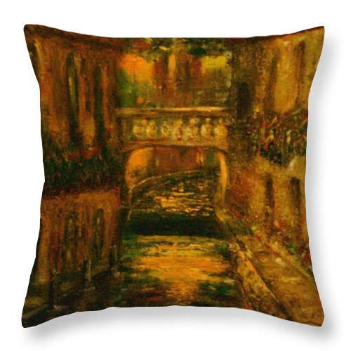 Landscape Throw Pillow featuring the painting Waters Of Europe by Stephen King